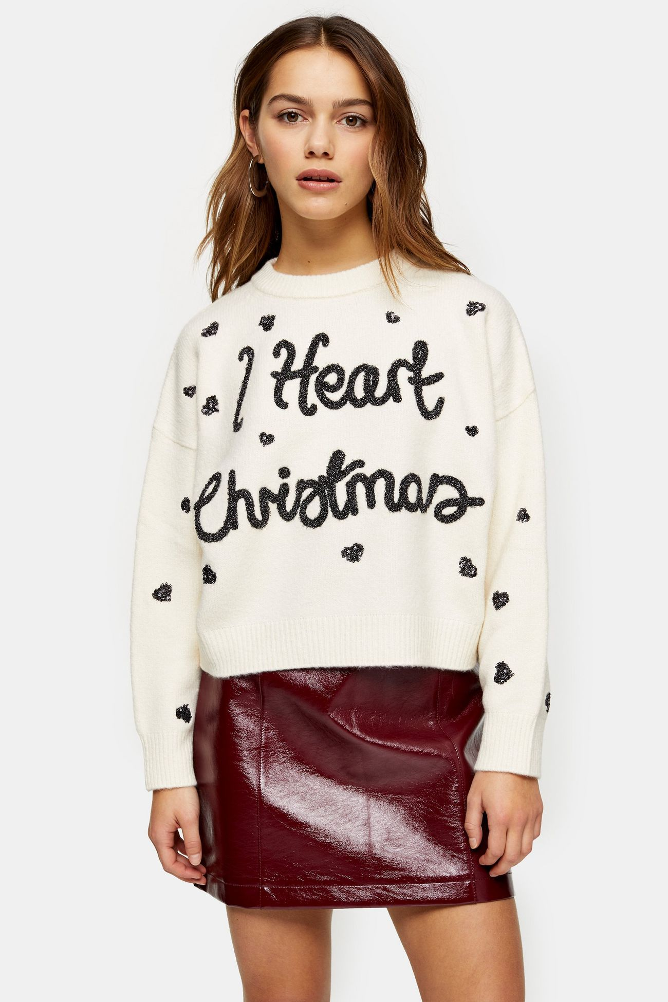 PETITE Knitted I Heart Christmas Jumper (With images