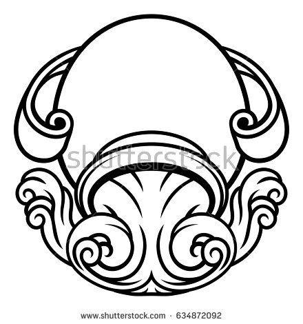 Astrology Horoscope Zodiac Sign Circular Aquarius Jug Symbol