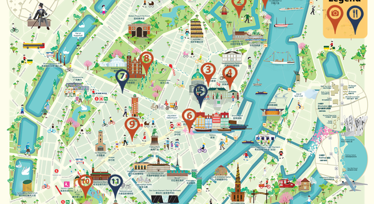 Tasten Travel Copenhagen city tour Map is from Chinavia Project