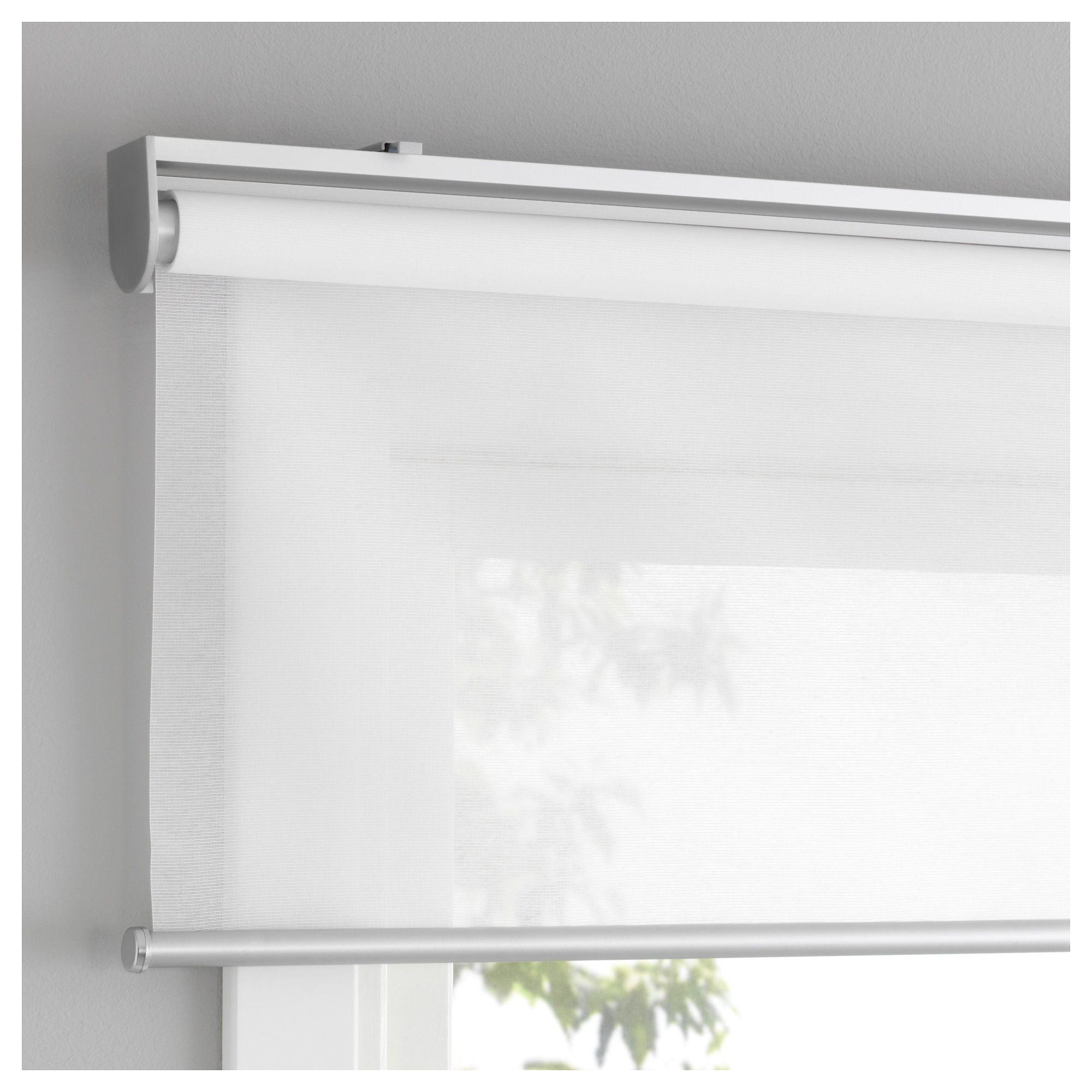 Store Bateau Blanc Ikea skogsklÖver roller blind - white 100x195 cm | roller blinds