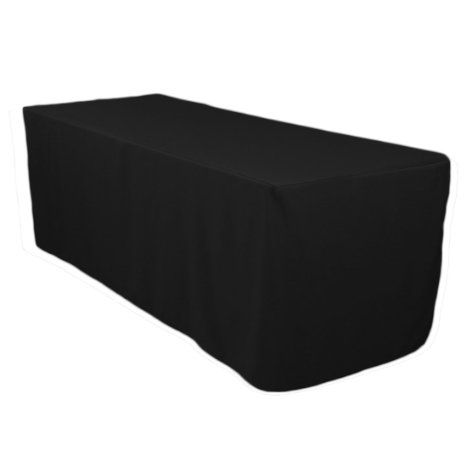 LinenTablecloth 6 ft. Fitted Polyester Tablecloth Black, 2016 Amazon Top Rated Kitchen & Table Linens  #Kitchen