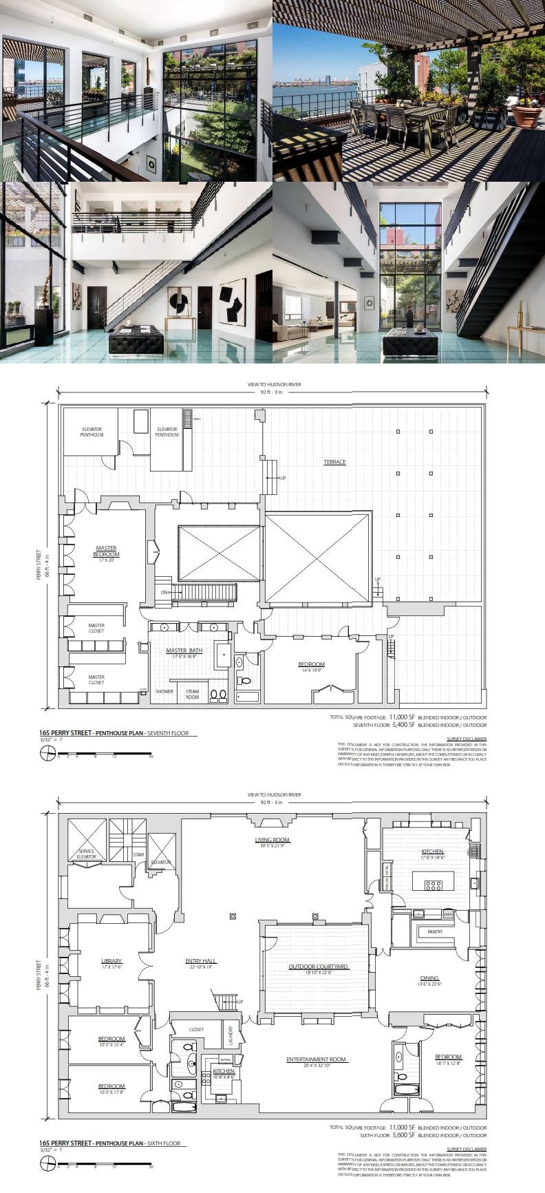 Robert deniro   onetime west village penthouse gets discounted yet again apartment floor plans house also rh pinterest