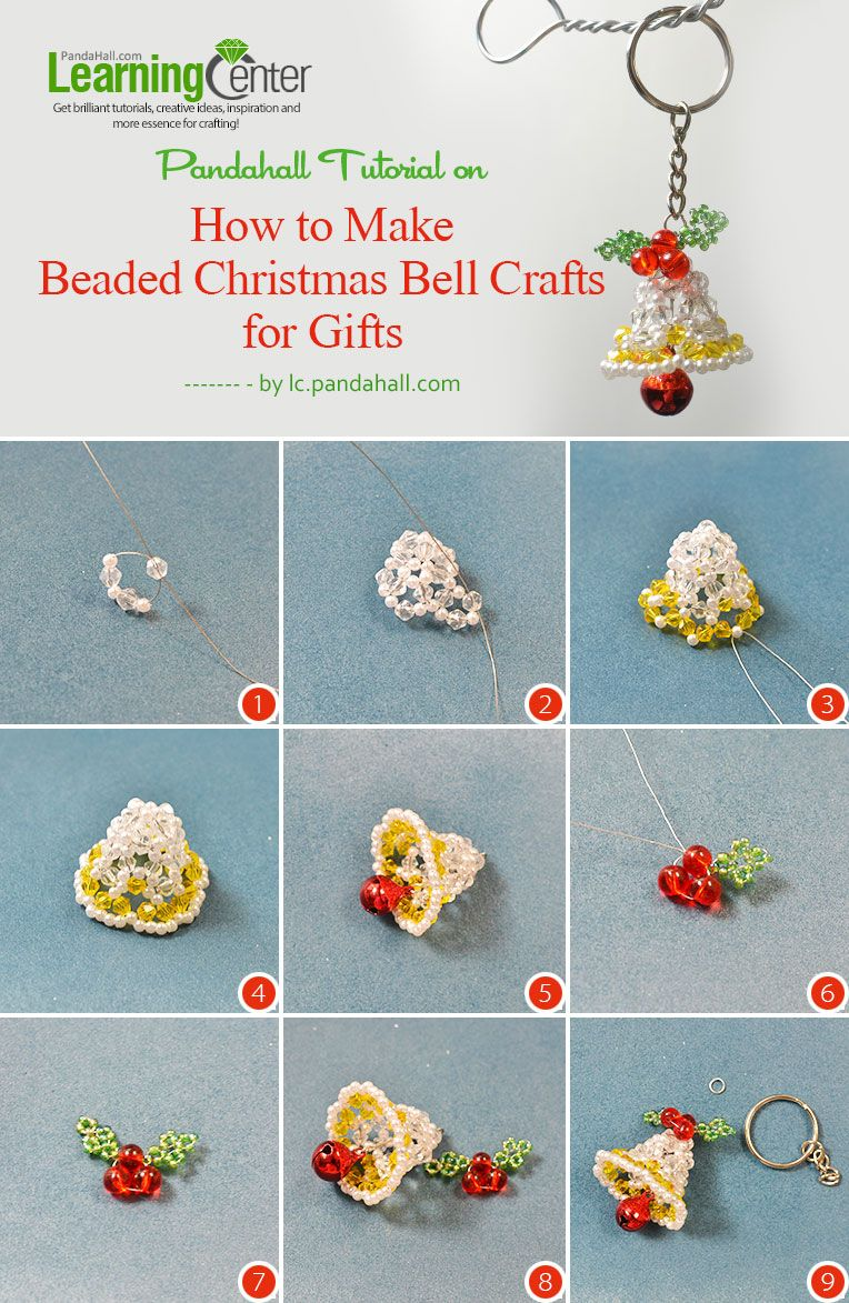 How To Make Beaded Christmas Bell Crafts For Gifts Beaded Christmas Decorations Beaded Christmas Ornaments Christmas Bead