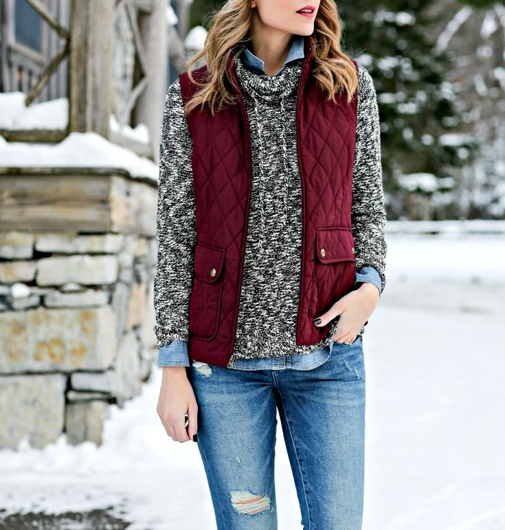 4f983a87a40 Take a encrusted look with Women Vests. Choose a knit jacket with a button-