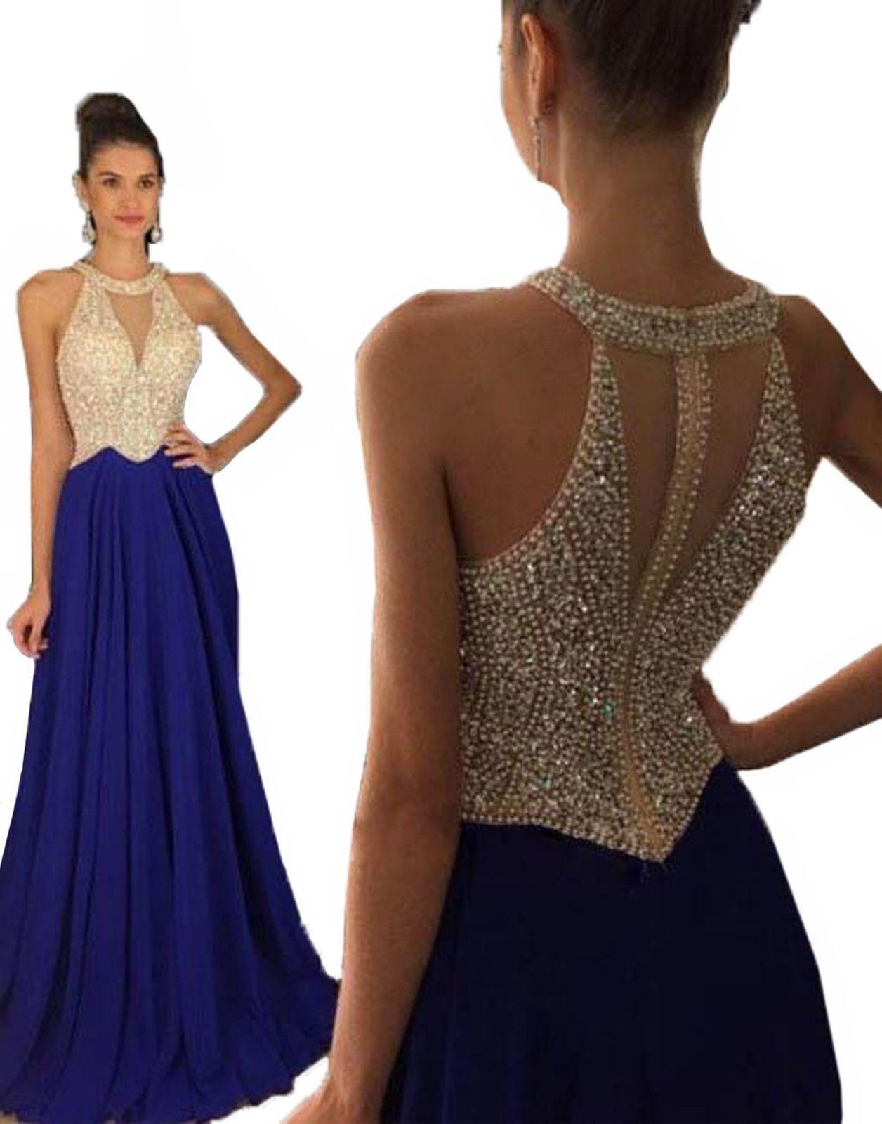 Awesome amazing fanciest womenus crystal beaded prom dresses
