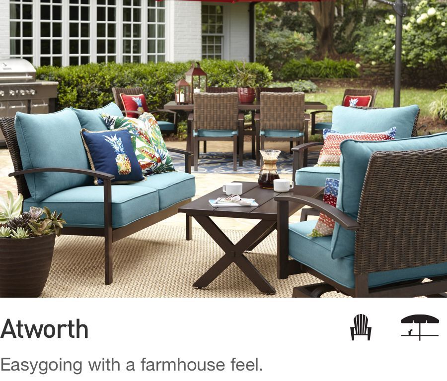 Shop Patio Furniture Conversation Collections at Loweu0027s & Shop Patio Furniture Conversation Collections at Loweu0027s | Our Porch ...