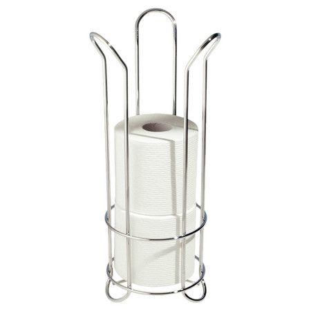 InterDesign Classico Tulip Free Standing Toilet Paper Roll Holder for Bathroom S