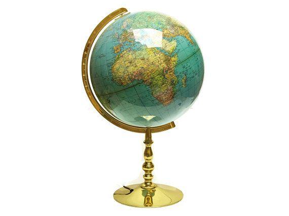 Vintage columbus globe lamp on brass stand paul ostergaard columbus vintage columbus globe lamp on brass stand paul ostergaard columbus duplex illuminated world map globe light gumiabroncs Gallery