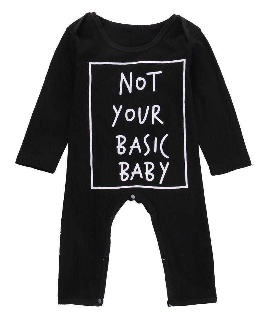 Basic Babykleding.Not Your Basic Baby Long Sleeve Onesie Products