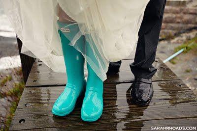 Aqua Wellies Bride by Sarah Rhoads