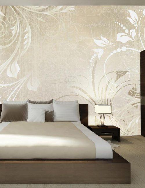 Carta da parati sinfonia con piante carta da parati for Carta da parete per camera da letto