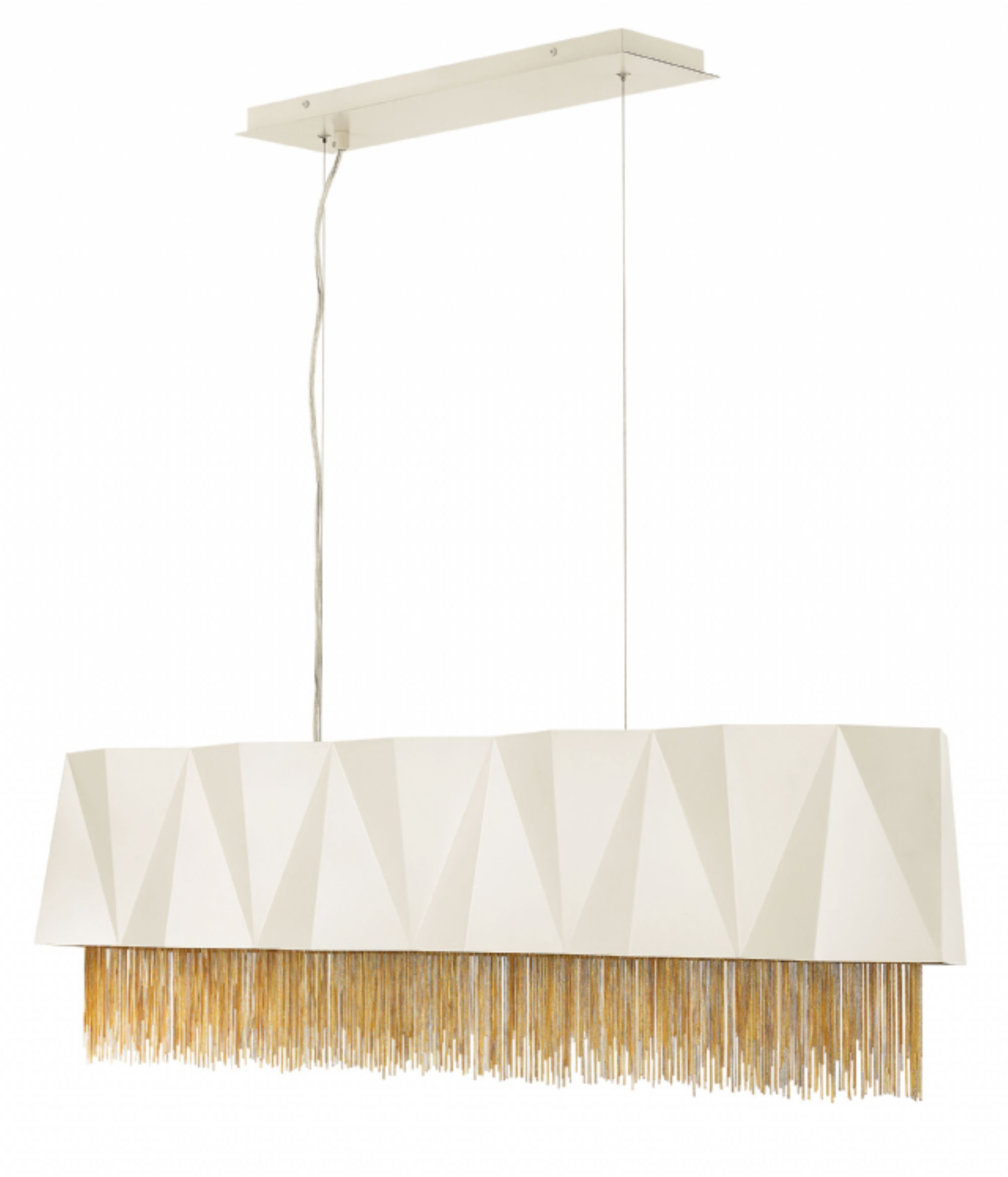 ZUMA FR WWT by Hinkley Lighting Gold Chandelier with tassels