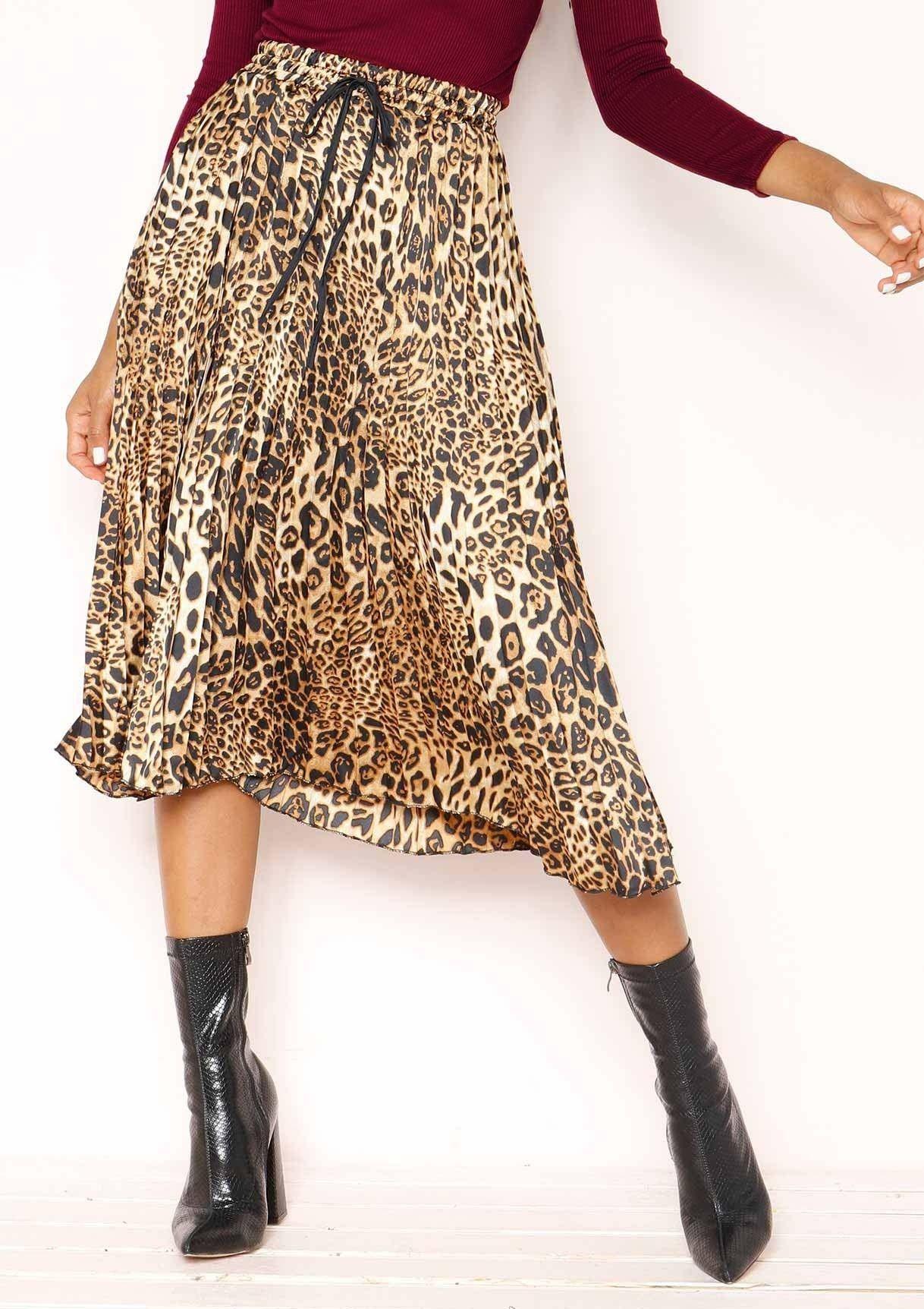 c3713d486f96f6 Dana Leopard Print Pleated Skirt | ⚡ all that new new ...