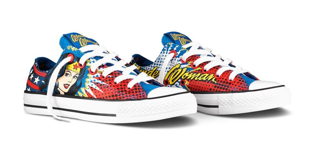 Converse All Star Chucks UK 7 UE 40 Wonderwoman MARVEL dccomic Limited Edition