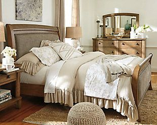 Bedroom Ideas Sleigh Bed tamburg queen sleigh bed- get yours at ashley homstore! | vintage