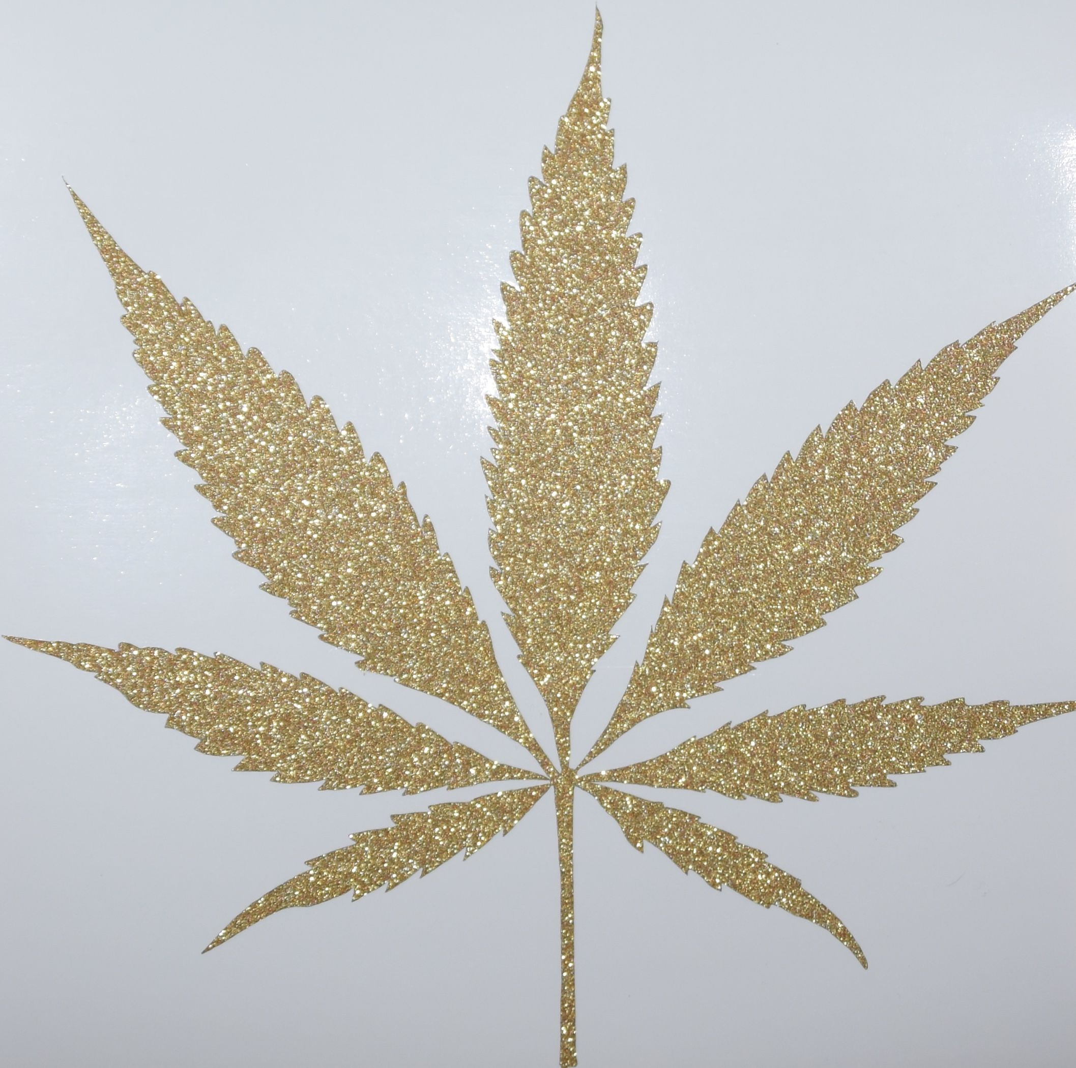 Weed Bettwäsche Ogstashjars Glitter Weed Leaf Sticker Decal Die Cut Ogstashjars