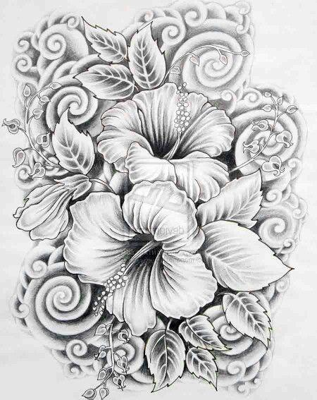 Hibiscus | tattoos | Pinterest | Tattoo ideen, Tattoo vorlagen und ...