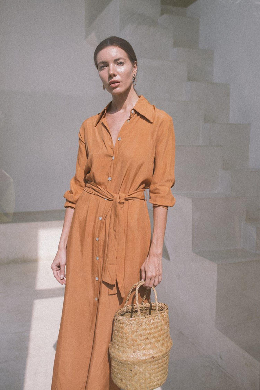 Apricot Shirt Dress In 2021 Shirt Dress Short Sleeve Dress Shirt Lush Shirts [ 2251 x 1500 Pixel ]