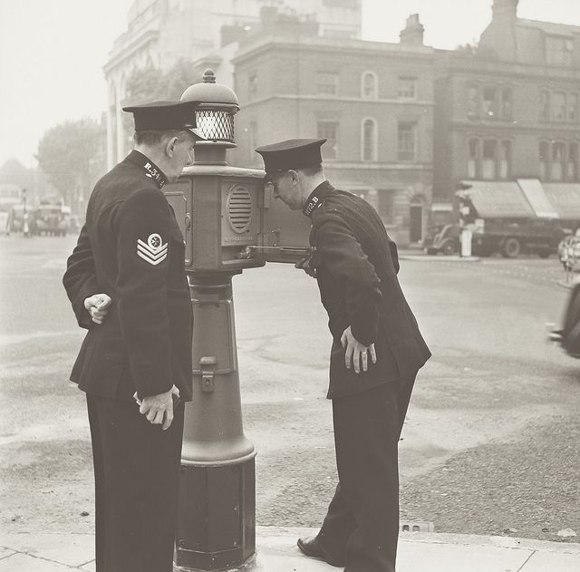 Day 239 West Midlands Police Historic Image Police Pillar C 1950 Birmingham Police West Midlands Police