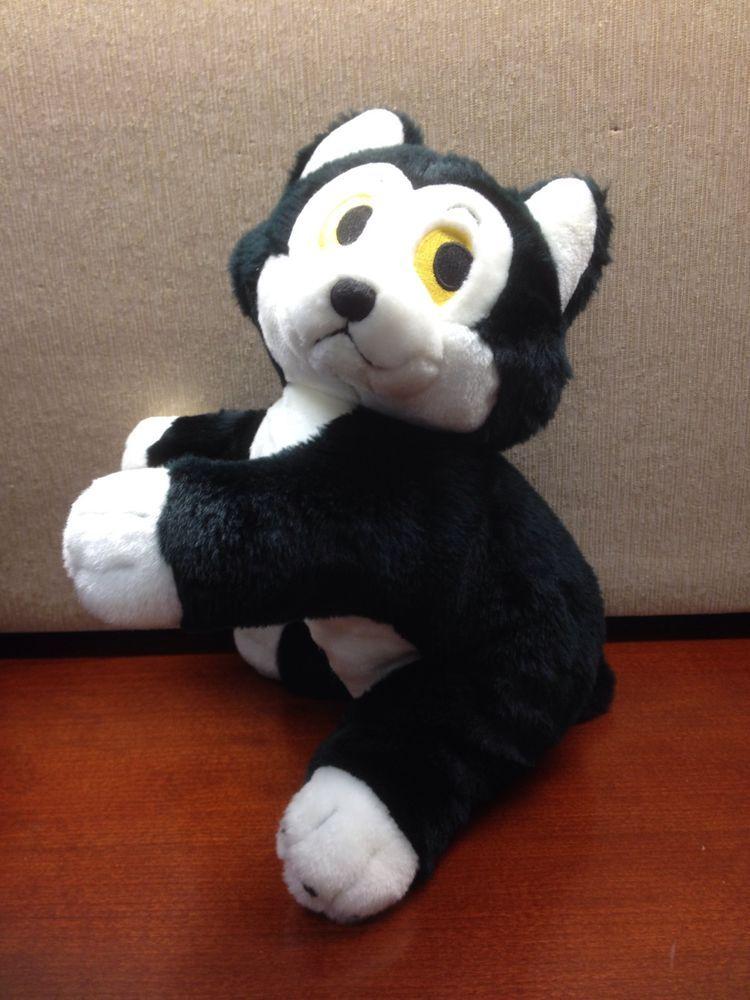 8f24332c84e Disney Store Pinocchio Figaro Plush Stuffed Cat Animal Beanie Medium ...