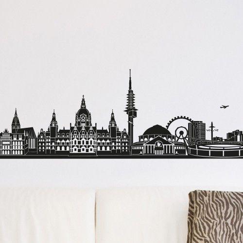 Fabulous Wandtattoo Skyline Hannover