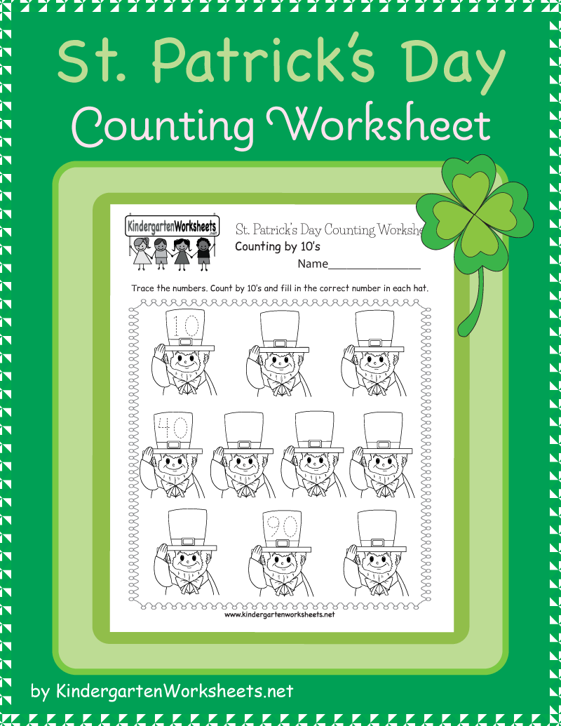 St Patrick S Day Counting Worksheet Counting Worksheets Holiday Worksheets Skip Counting [ 1035 x 800 Pixel ]