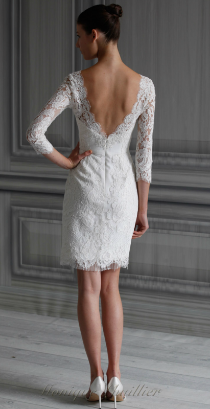 fun knee length courthouse wedding dresses Google Search