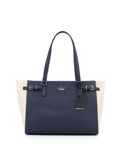 V2HBH kate spade new york holden street colorblock tote bag, galaxy/sandstone