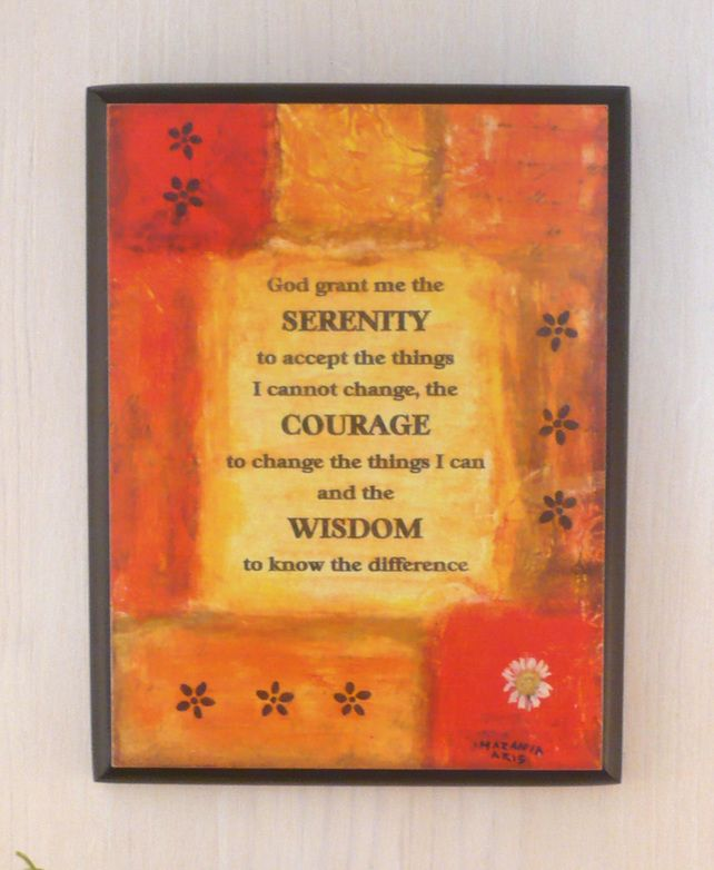 Serenity Prayer Wall Plaque | Serenity Prayer | Pinterest | Prayer ...