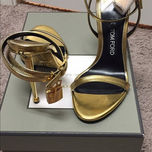 dd9a70ce0a0 Tom ford lock it sandal Tom ford lock it sandal in gold brand new comes with