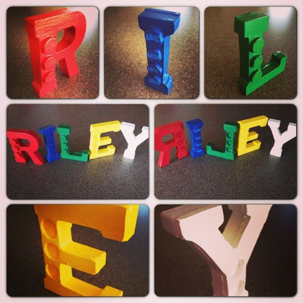 Lego Letters 1 Trace Foam Board To Match Letters 2 Trace Out Circles From Foam Board 3 Attach Foam Board To The Lego Letters Lego Birthday Wooden Letters