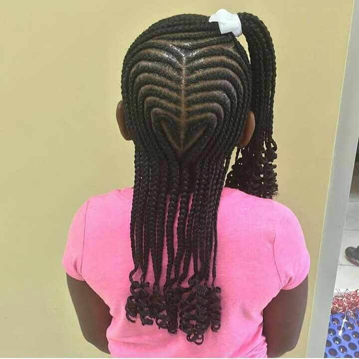 Heart Shaped Braids Braid Styles For Girls Kid Braid Styles