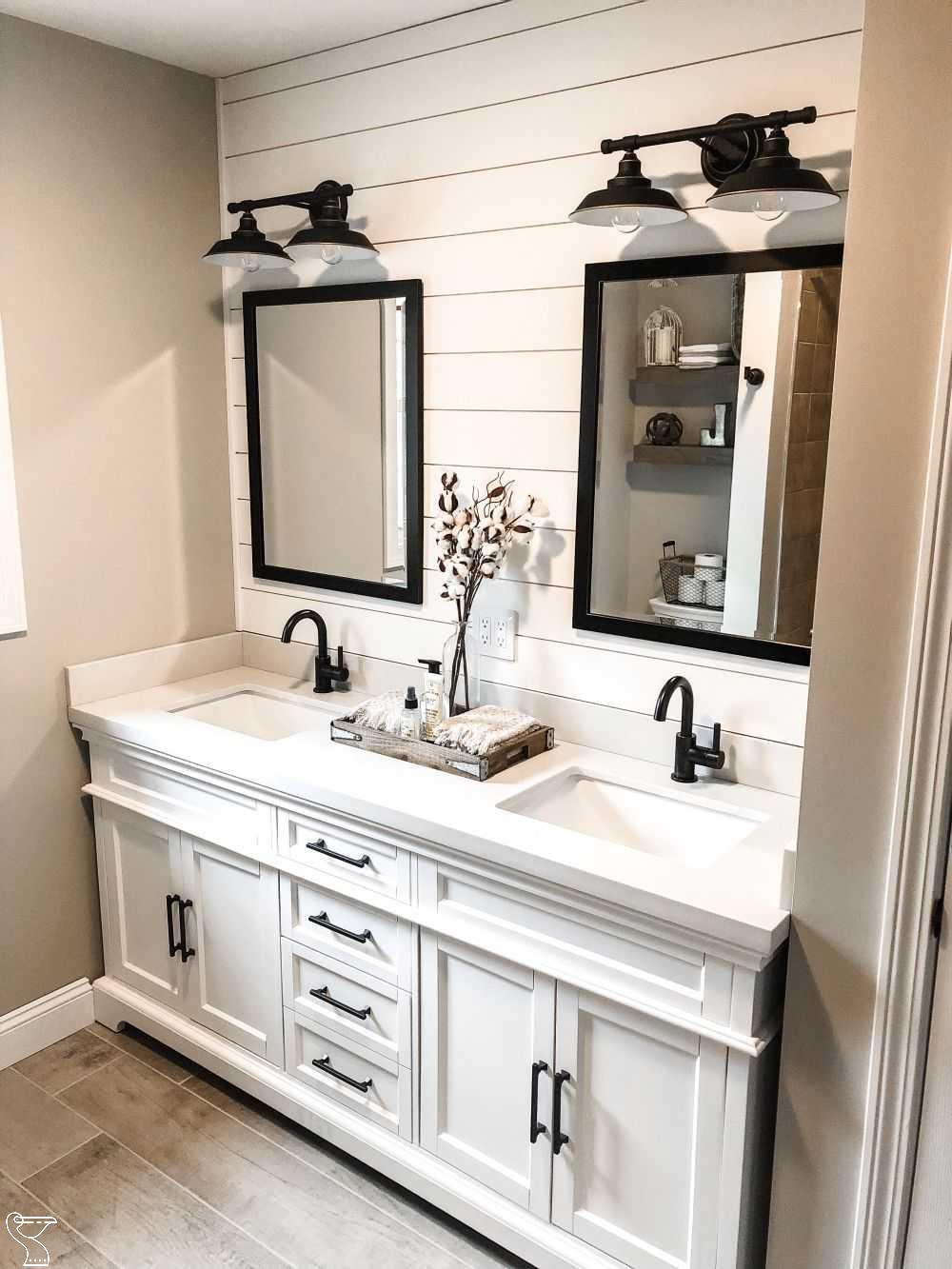 modern farmhouse bathroom remodel in 2020 modern on bathroom renovation ideas modern id=36718