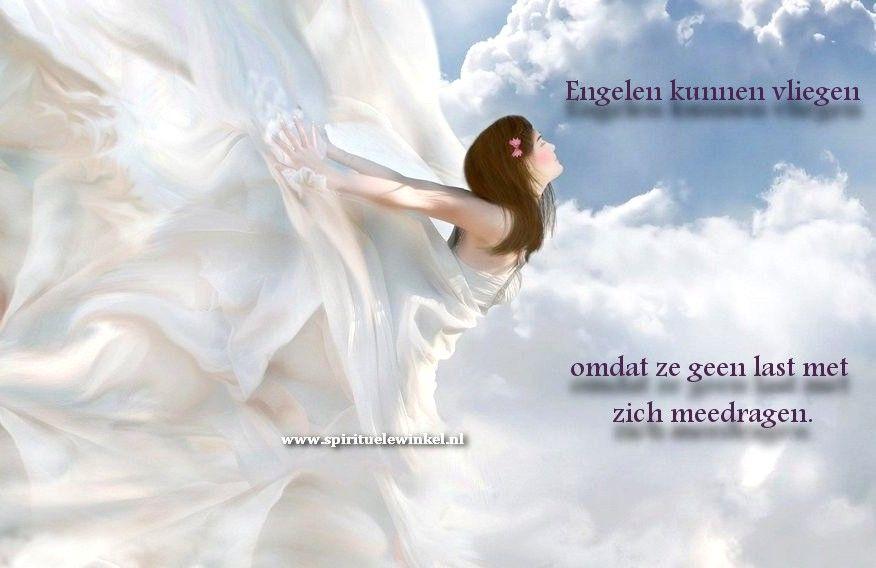 Engelen kunnen vliegen, omdat ze geen last met zich meedragen.