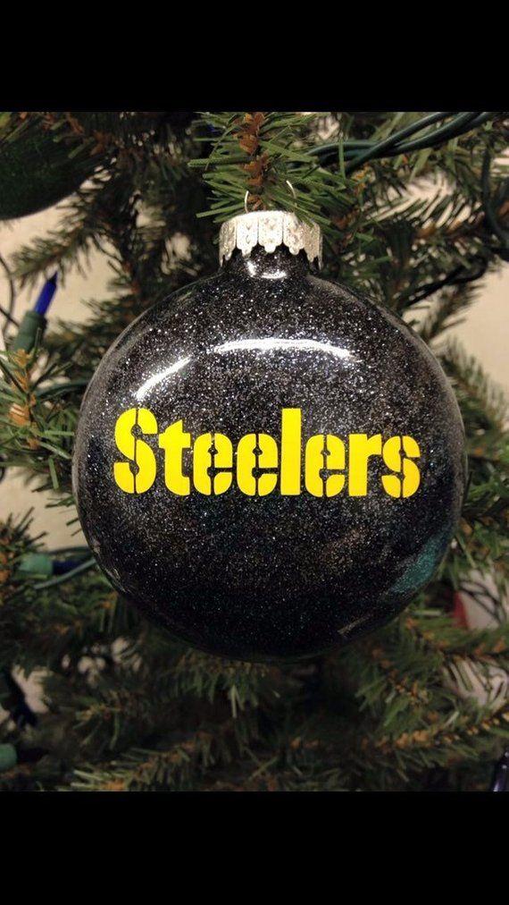 Steelers Christmas Ornaments.Steelers Christmas Ornament Football Ornament Handmade