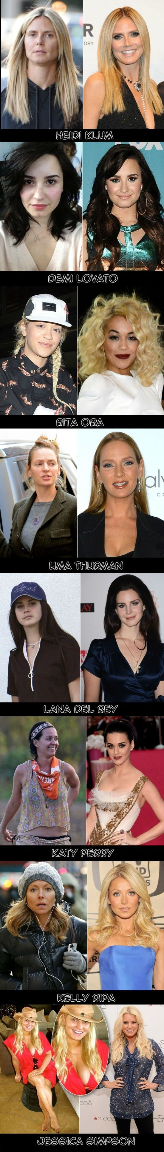 Who looks the best without makeup? I think Katy Perry looks very nice!