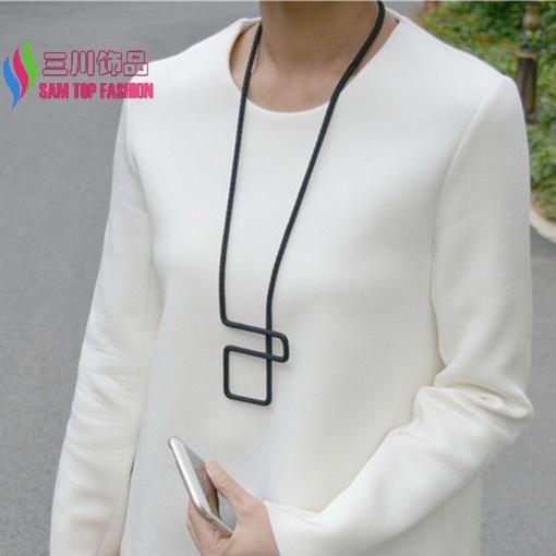 Modo caldo progettato multi-color corda geo collare falso pendente della collana per le donne costume semplice jewel collare para mujer