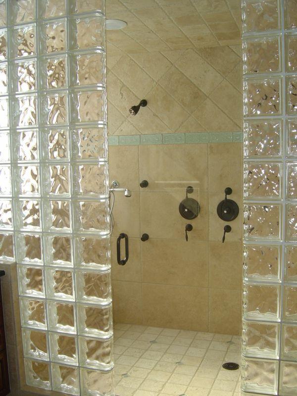 Glasbausteine dusche beispiele  glasbausteine für dusche - im kleinen bad | Bad | Pinterest ...
