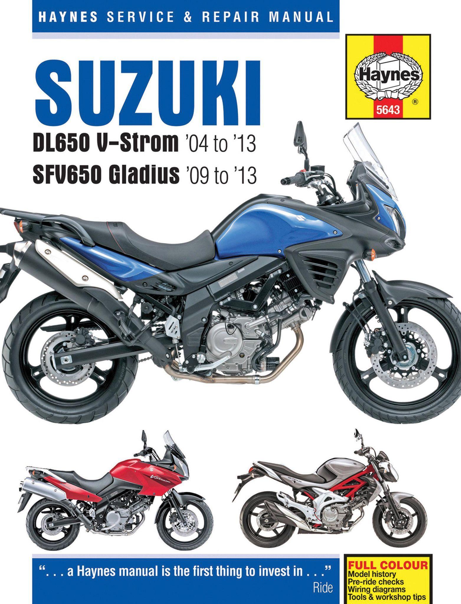 Haynes M5643 Repair Manual for 2004-13 Suzuki DL650 V-Strom & SFV650 Gladius