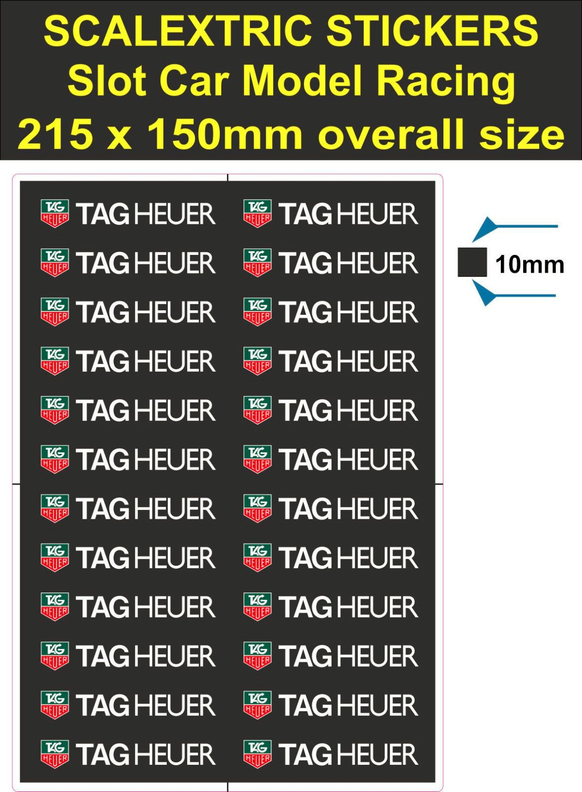 £2 8 gbp scalextric slot car stickers model race lego decal adhesive vinyl t2