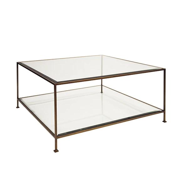 Quadro Brz Coffee Table Square Bronze Coffee Table Square Glass Coffee Table Bronze and glass coffee table