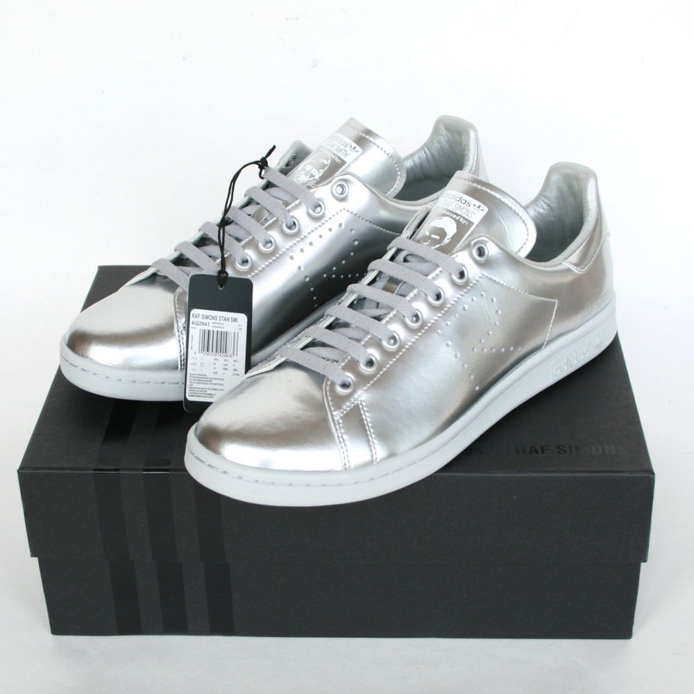 2904e397056b RAF SIMONS x ADIDAS  500 stan smith sneakers silver trainers shoes 11-US  NEW…