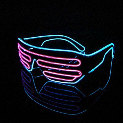Lerway Black Frame Neon El Wire LED Light Up Shutter Glas... https ...