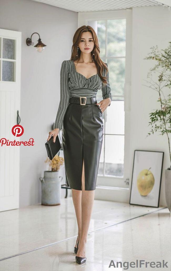 Leather Skirts Panosundaki Pin-5682