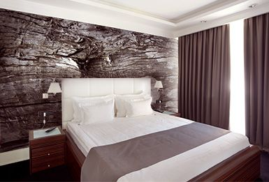 Wood Wall Murals Make Great Backgrounds Natural Home Design