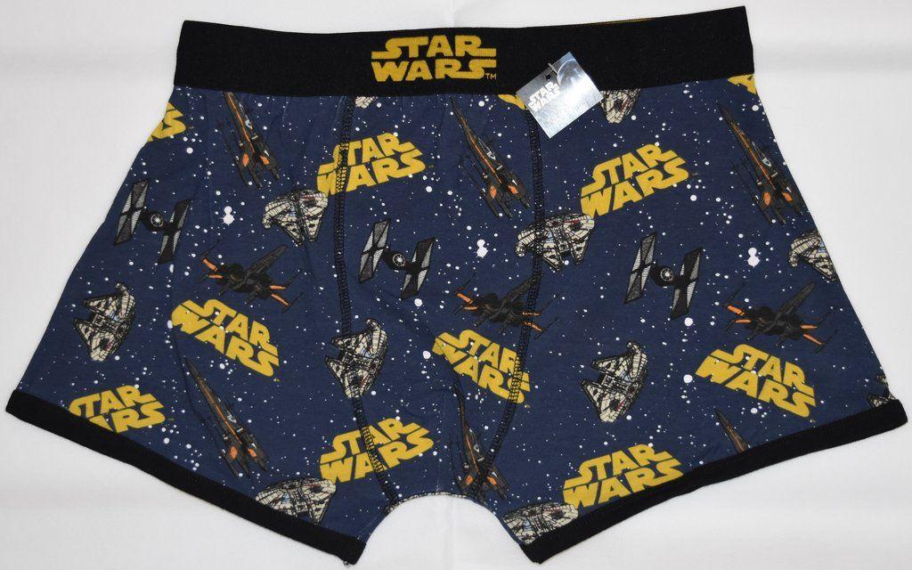 XXL STAR WARS PANTS Mens BLACK CARTOON STYLE Boxers Underwear Sizes M