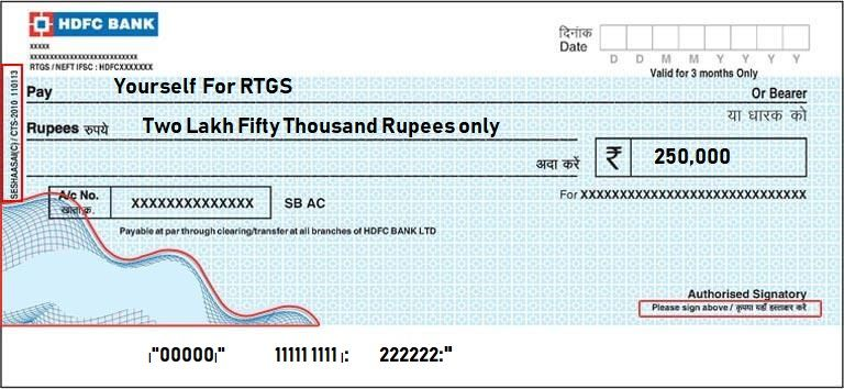 Hdfc Rtgs Form In 2020 Double Quote Form Send Money