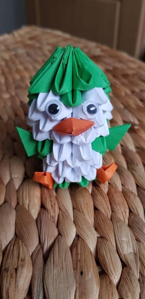Cute 3d Origami Penguin Gift Present Centrepiece Ornament
