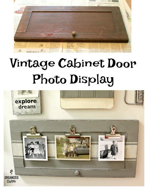 Upcycled Garage Sale Cabinet Door Photo Display Cabinet Doors