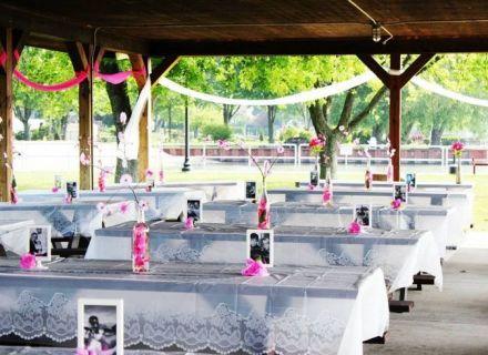 Table Picnic Pavilion Wedding Decorating Ideas Park Weddings